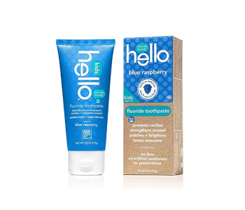 Hello Oral Care Fluoride Toothpaste Blue Raspberry