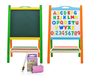 Elk & Bear Double-Sided Magnetic Whiteboard Painting Easel