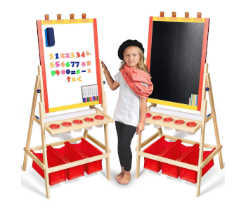 Kids Easel with Paper Roll by Evergreen Art Supply