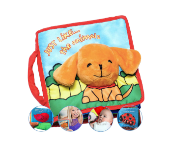 ToBe Ready For Life Premium Soft Baby Book First Year, Cloth Book