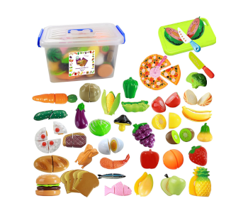 IQ Toys Pretend Cutting Food Playset for Kids