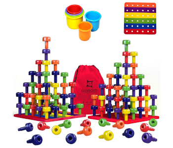 Stacking Peg Board Toy Set